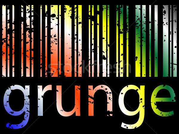 Grunge barkod siyah soyut vektör sanat Stok fotoğraf © robertosch