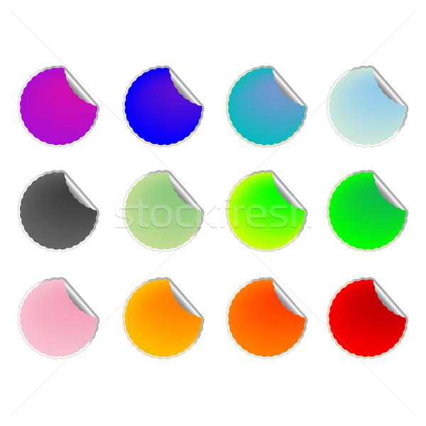 Gekleurd collectie vector kunst illustratie Stockfoto © robertosch
