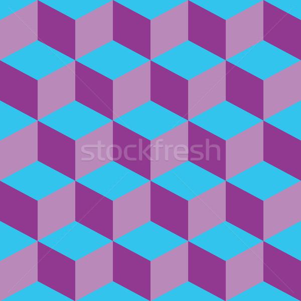 Psicodélico patrón mixto púrpura azul vector Foto stock © robertosch
