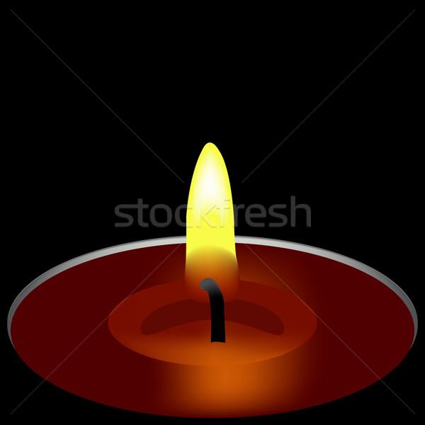 Gyertya egy absztrakt művészet illusztráció fény Stock fotó © robertosch