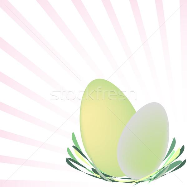Пасху карт яйца гнезда аннотация Сток-фото © robertosch