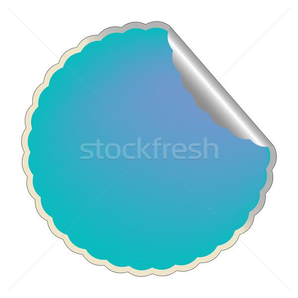 flowerish blue label 2 Stock photo © robertosch