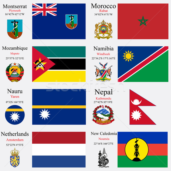 world flags and capitals set 16 Stock photo © robertosch