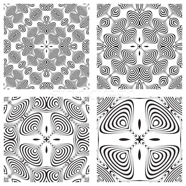 op art monochromatic patterns 3 Stock photo © robertosch