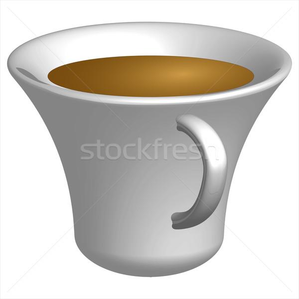 Warme drank beker witte abstract vector kunst Stockfoto © robertosch