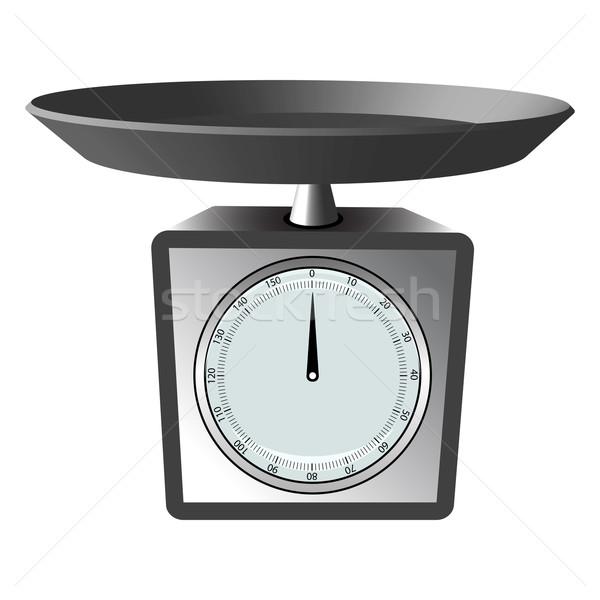 Konyhai mérleg fehér absztrakt vektor művészet illusztráció Stock fotó © robertosch
