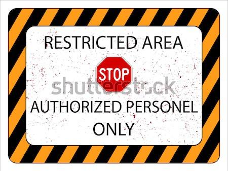 Geen toegestaan teken witte abstract vector Stockfoto © robertosch