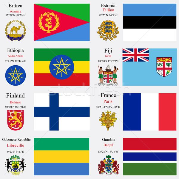 world flags and capitals set 8 Stock photo © robertosch