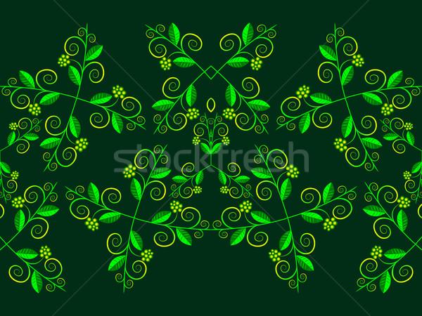 цветочный горизонтальный шаблон аннотация бесшовный текстуры Сток-фото © robertosch