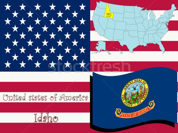 Idaho illustratie abstract vector kunst ontwerp Stockfoto © robertosch