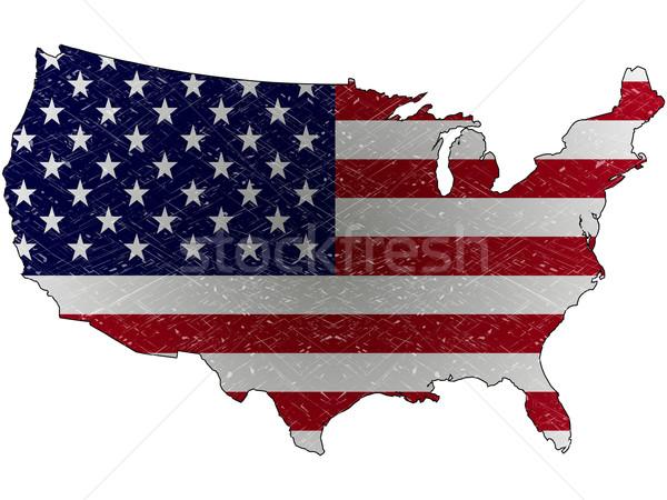 united states grunge map Stock photo © robertosch