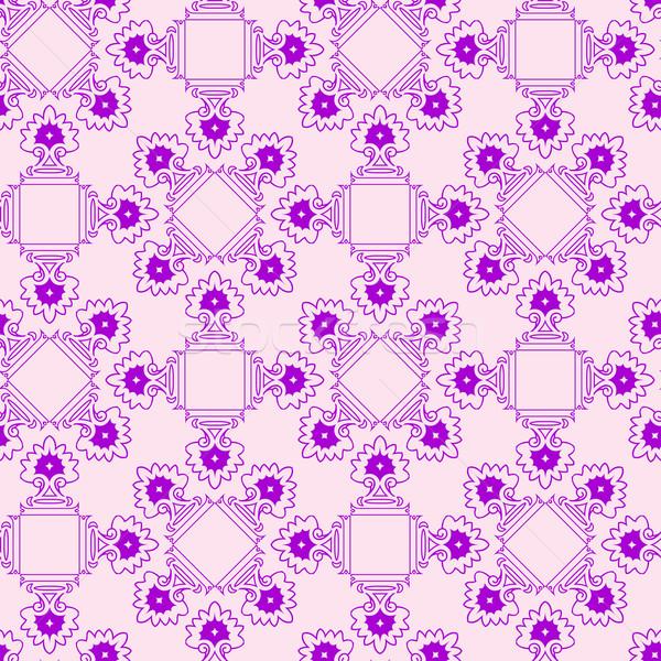 Streszczenie fioletowy bezszwowy tekstury geometryczny wzór wektora Zdjęcia stock © robertosch
