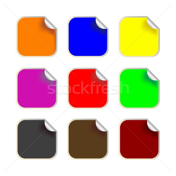 fresh square labels Stock photo © robertosch