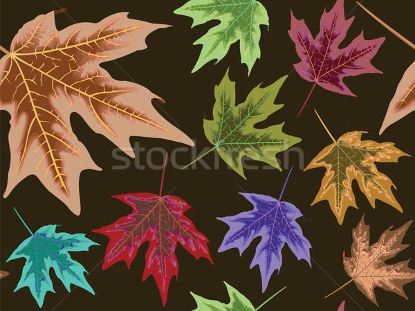 dry leaves seamless pattern Stock photo © robertosch