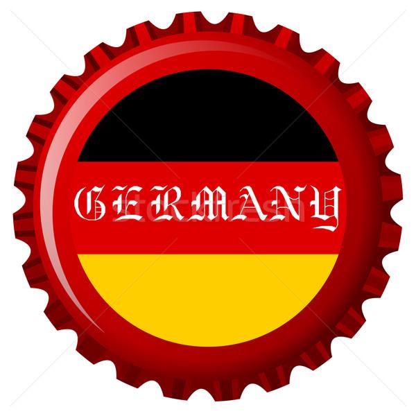 Németország stilizált zászló üveg sapka absztrakt Stock fotó © robertosch