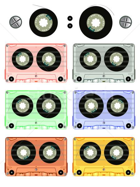 retro audio cassette set Stock photo © robertosch