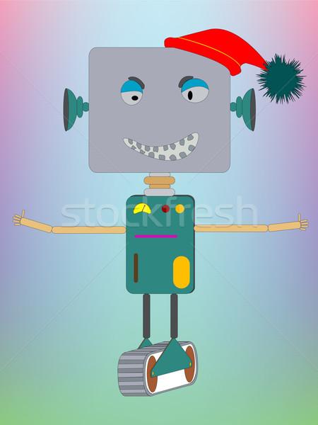 Robot kérdez ölelés vektor művészet illusztráció Stock fotó © robertosch