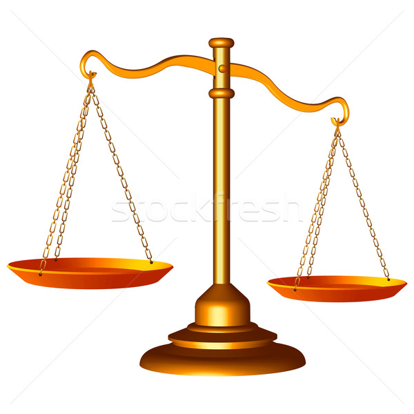 scale of justice Stock photo © robertosch