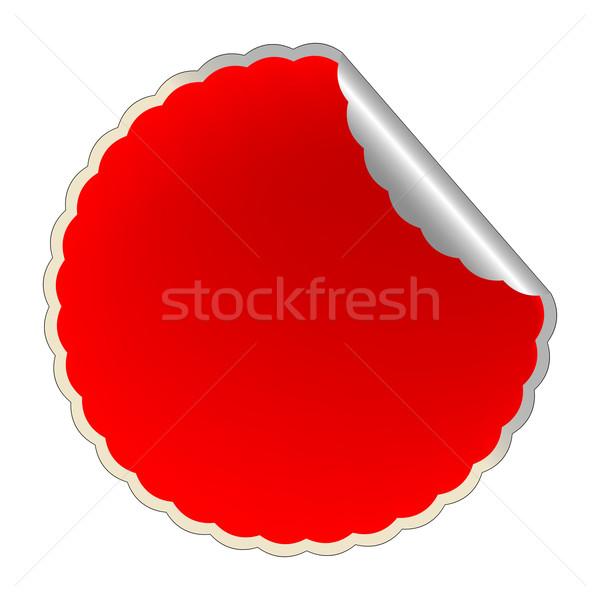 flowerish red label Stock photo © robertosch