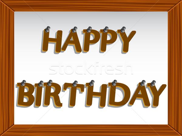 С Днем Рождения совета аннотация вектора искусства иллюстрация Сток-фото © robertosch