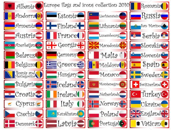 europe flags and icons collection Stock photo © robertosch