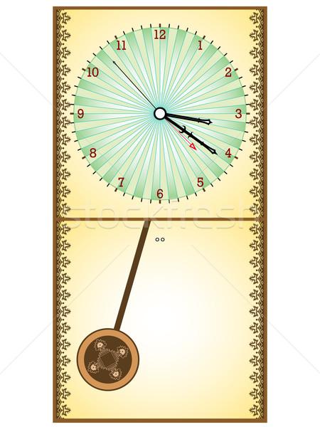 Zegar biały streszczenie wektora sztuki Zdjęcia stock © robertosch