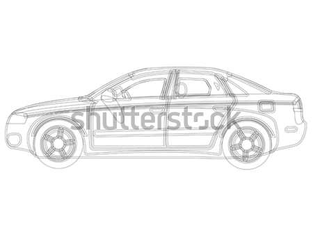 auto sketch vector Stock photo © robertosch
