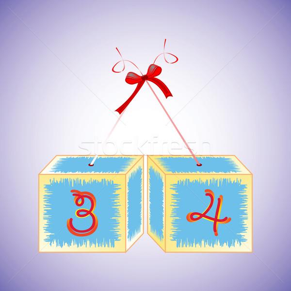 Alfabeto abstrato arte ilustração educação Foto stock © robertosch