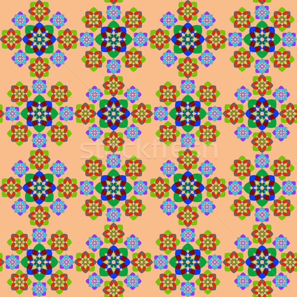 Naadloos meetkundig textuur abstract patroon Stockfoto © robertosch
