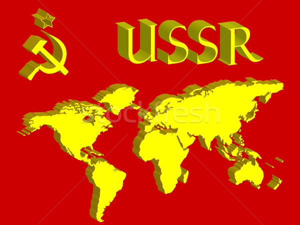 Ussr symbool wereldkaart abstract vector kunst Stockfoto © robertosch
