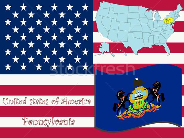 Pensilvânia ilustração abstrato vetor arte mapa Foto stock © robertosch