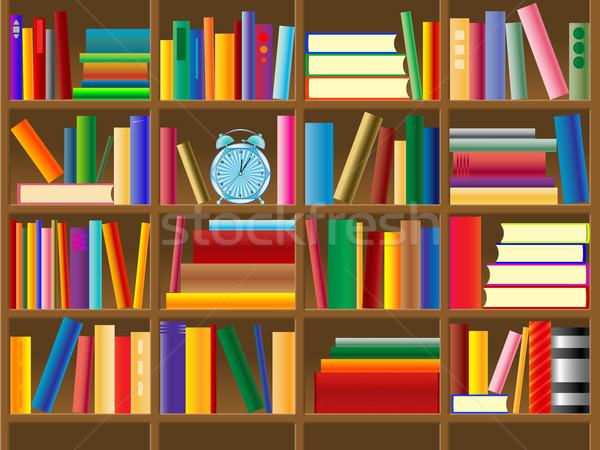 wooden bookshelf vector Stock photo © robertosch