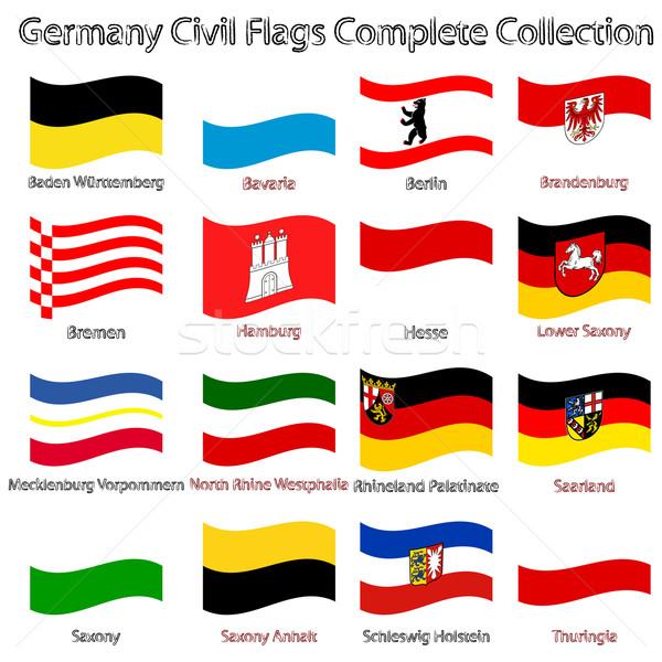 Alemanha civil bandeiras coleção branco abstrato Foto stock © robertosch