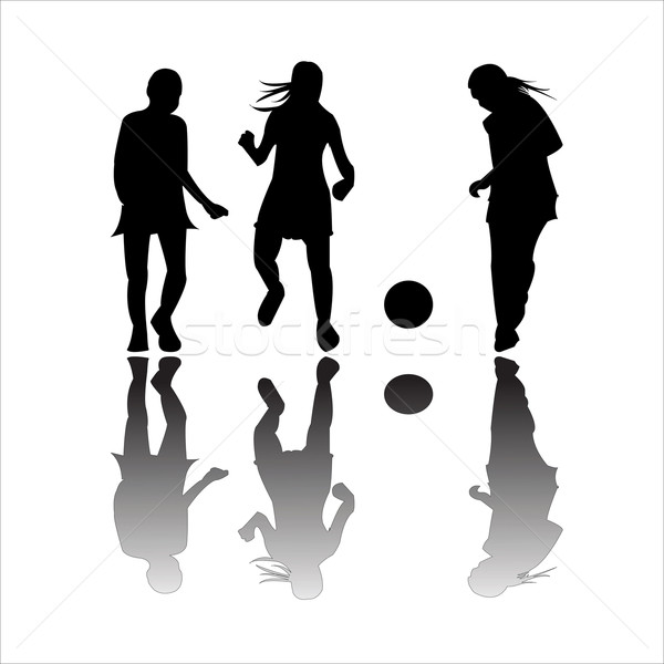 girls playing football Stock photo © robertosch