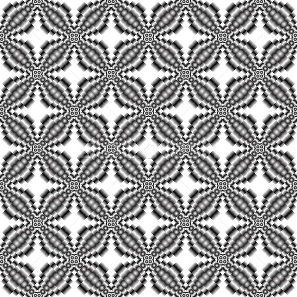 メタリック 花 シームレス テクスチャ 抽象的な 芸術 ストックフォト © robertosch
