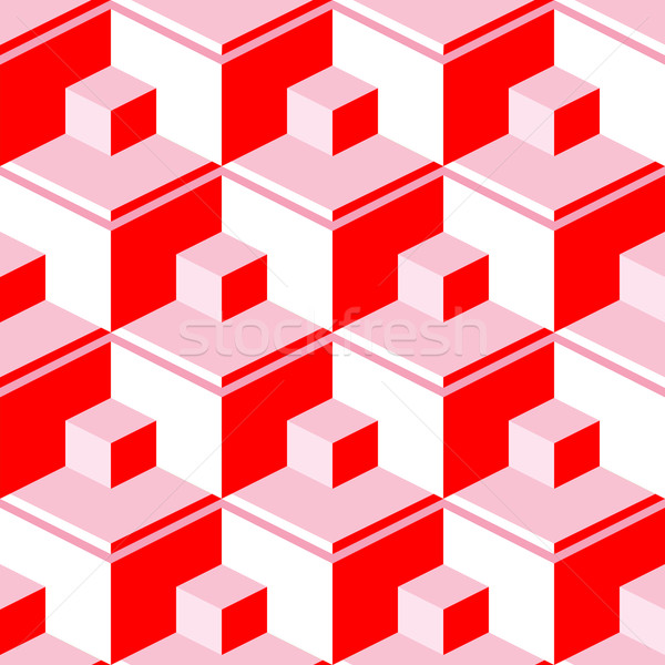 red abstract cubes Stock photo © robertosch