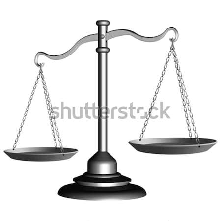 Foto stock: Prata · escala · justiça · branco · abstrato · vetor