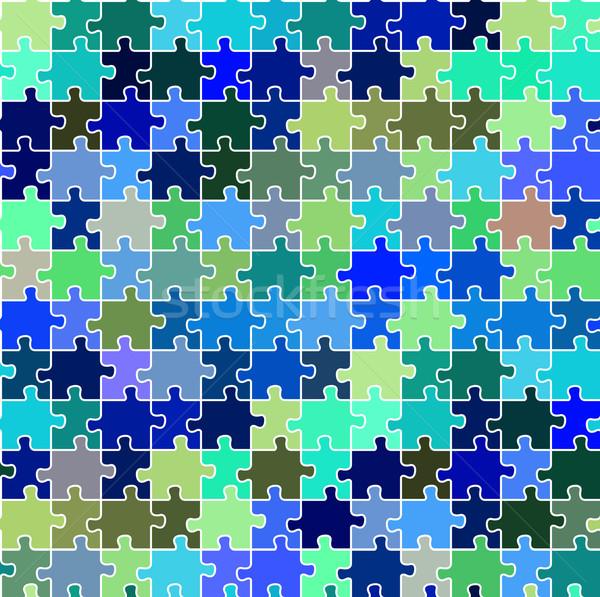 seamless puzzle texture 2 Stock photo © robertosch