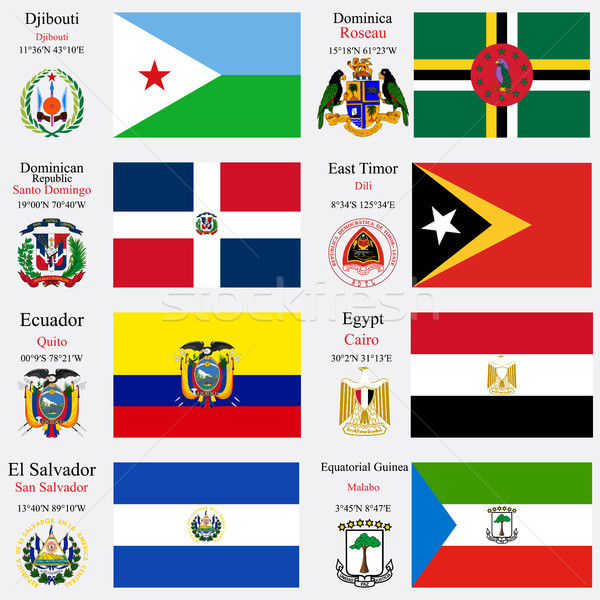 world flags and capitals set 7 Stock photo © robertosch