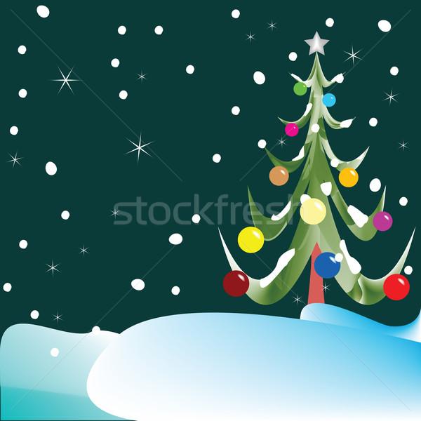 Karácsonyfa absztrakt vektor művészet illusztráció textúra Stock fotó © robertosch