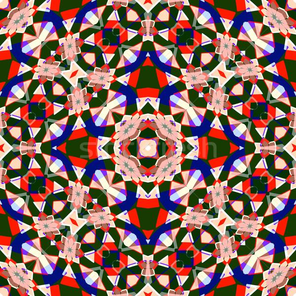 Naadloos textuur 26 gekleurd meetkundig abstract Stockfoto © robertosch