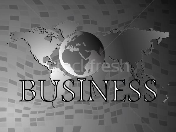 бизнеса Мир Мир карта аннотация вектора искусства Сток-фото © robertosch