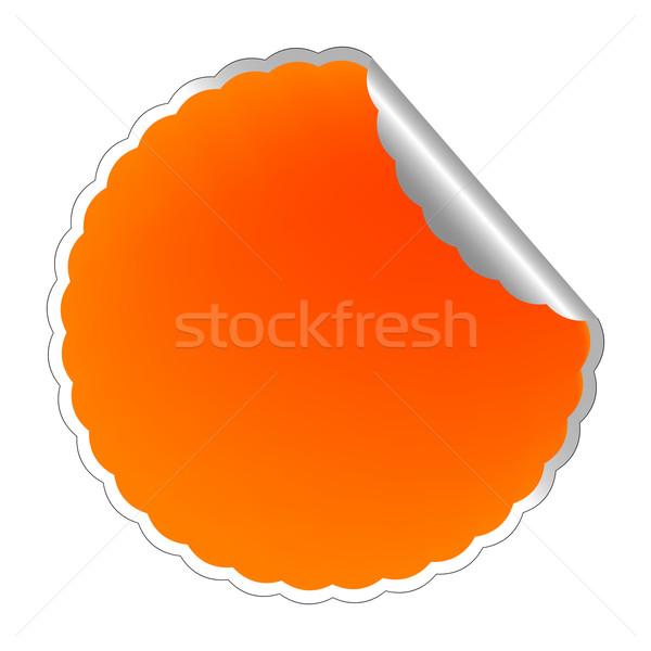 flowerish orange label Stock photo © robertosch