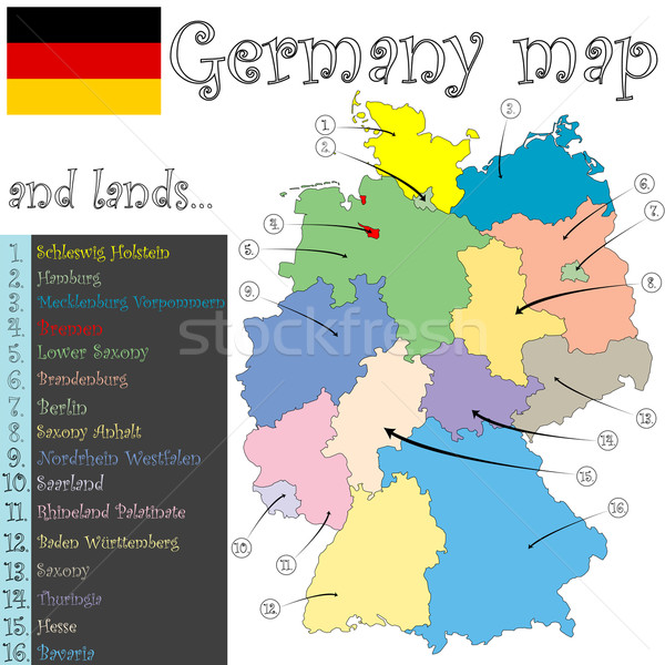 germany map and lands Stock photo © robertosch