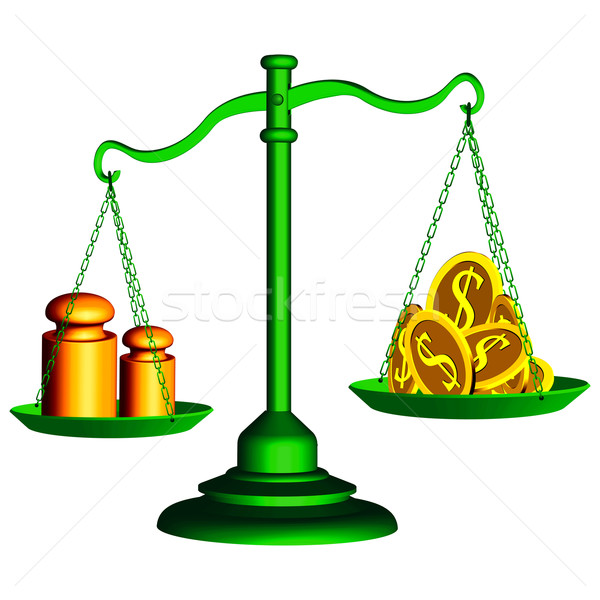 Ceny moc zielone skali sprawiedliwości wagi Zdjęcia stock © robertosch