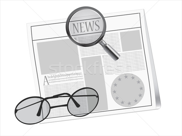 newspaper and glasses Stock photo © robertosch