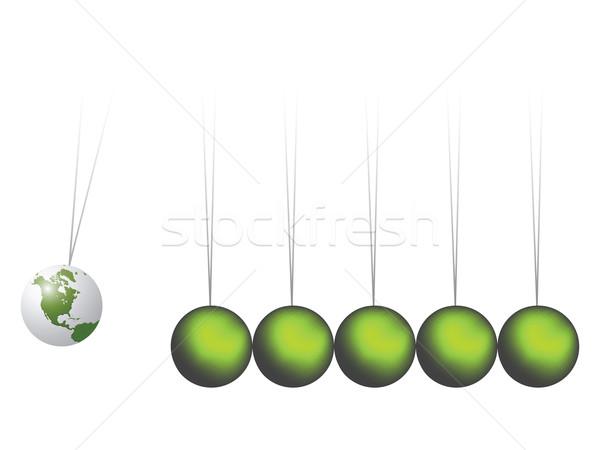 Wieg aarde abstract vector kunst illustratie Stockfoto © robertosch