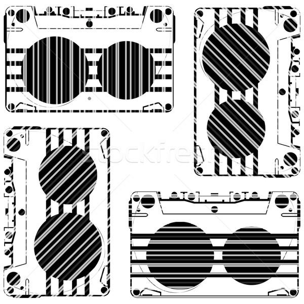 striped audio tapes Stock photo © robertosch