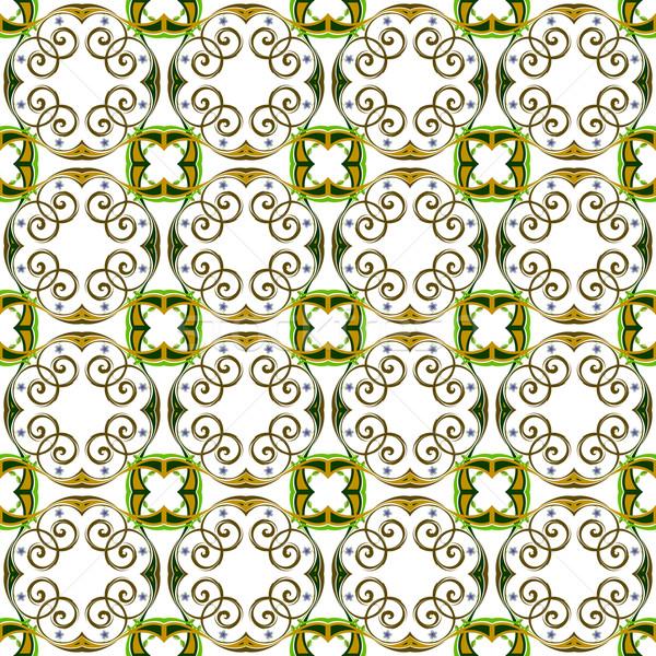 tiled seamless flowerish texture Stock photo © robertosch