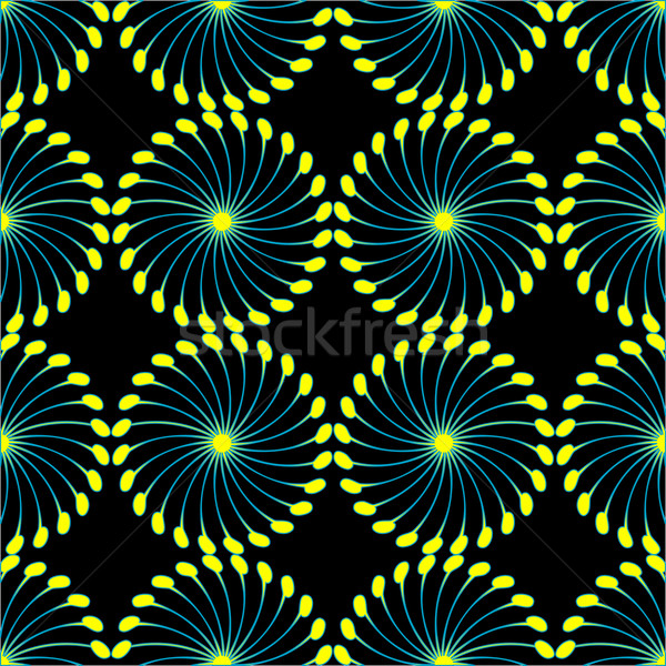 paper wind mill pattern black and yellow Stock photo © robertosch